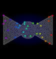 wire frame mesh bow tie with spectrum vector image vector image