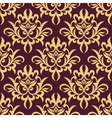 Yellow and purple floral seamless pattern vector image vector image