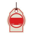color price tag with red background circle vector image