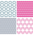 Four wavy pink and gray abstract geometric vector image