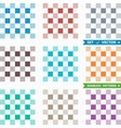 Set of patterns with squares vector image