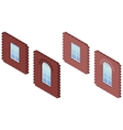 Brick wall whith window vector image