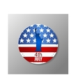 Metal plate with US flag and statue of Liberty vector image