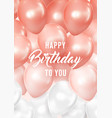 3d realistic balloon background pastel vector image vector image