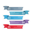 5 banners with numbers and text vector image