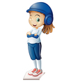 A cute baseball player vector image vector image