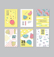 abstract memphis style posters set geometric vector image vector image