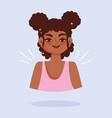 african american young woman portrait cartoon vector image vector image