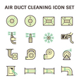 Air duct cleaning vector image vector image