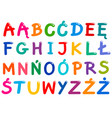 all polish alphabet letters set vector image