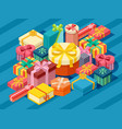 assortment isometric present boxes vector image