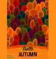 autumn design with autumn forest template vector image vector image