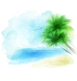 background a watercolor seascape vector image