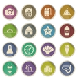 Beach simply icons vector image