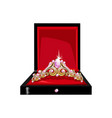 beautiful tiara in a gift box vector image vector image