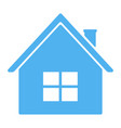 blue house icon vector image vector image