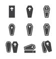casket icon vector image vector image