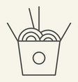 chinese noodles thin line icon noodle in box vector image vector image