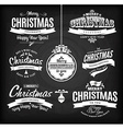 Christmas and happy new year lettetingType vector image