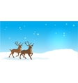 Christmas banner with reindeers vector image