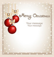 christmas card postcard with christmas vector image