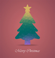 christmas tree with polygon vector image vector image