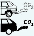 Close up of a car fumes emissions in the traffic