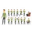 cute man - cartoon people character set vector image