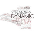 dynamics word cloud concept vector image vector image