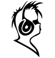 ear-phones graphic vector image vector image