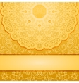 Elegant gold background vector image vector image