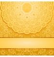 elegant gold background vector image vector image