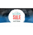 end of winter sale background discount coupon vector image vector image