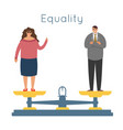 equality men women equal rights male female vector image