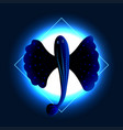 exotic flying fish vector image vector image