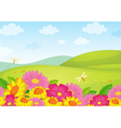Floral Field Background vector image