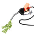 gas gasoline pump money concept cost for fuel vector image