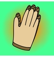 Gloves Pop art vector image vector image