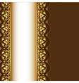 Gold Ornamental Frame Background vector image vector image