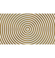 golden concentric circles background vector image vector image