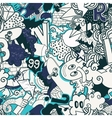 Graffiti colorful seamless pattern vector image vector image