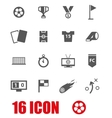 grey soccer icon set vector image vector image