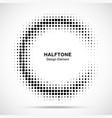 halftone half moon circule frame background vector image vector image