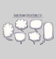 hand drawn speech bubble set vector image vector image