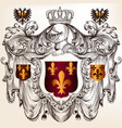 heraldic design with coat arms in vintage style vector image vector image