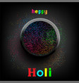 holi paint colors in plate with text vector image vector image