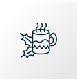 hot tea icon line symbol premium quality isolated vector image