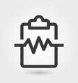 icon cardiogram medical icon line style for any vector image vector image
