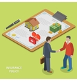 Insurance policy deal flat isometric vector image