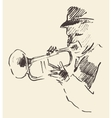 Jazz poster trumpet music acoustic consept vector image vector image